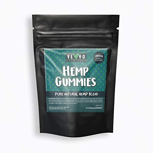 VEYO Nutrition 300 MG Hemp Gummies - Sour Hemp Gummy Worms with Natural Hemp Oil, No THC or CBD