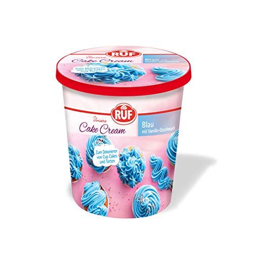 RUF Cake Cream Blau Vanille Geschmack für 12 Cup Cakes oder 1 Torte, 400 g