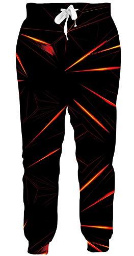 Loveternal 3D Druck Hosen Damen Herren Jogginghose Geometry Kordelzugtaschen Baggy Sweatpants Trainingshose Yogahosen Sporthosen Pants L