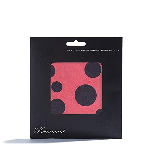 """Beaumont """"Ladybird"""" Mikrofaser-Tuch Reinigungstuch extra fein Instrumente Poliertuch Messing Silber 25x25cm Wischtusch Putztuch Trompete Sax Querflöte Klarinette"""