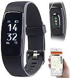 newgen medicals Puls-Uhren: Premium-GPS-Fitness-Armband mit XL-Touch-Display, 14 Sportarten, IP68...