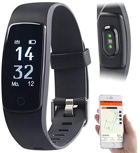 Newgen Medicals GPS Sportuhr: GPS-Fitness-Armband mit XL-Touch-Display, 14 Sportarten, IP68 (Fitnesstracker mit GPS)
