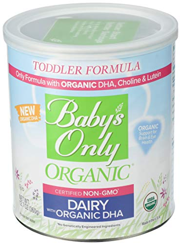 Baby's Only Dairy with DHA Toddler Formula, 12.7 Oz (Pack of 1) | Non GMO | USDA Organic | Clean Label Project Verified | Brain & Eye Health