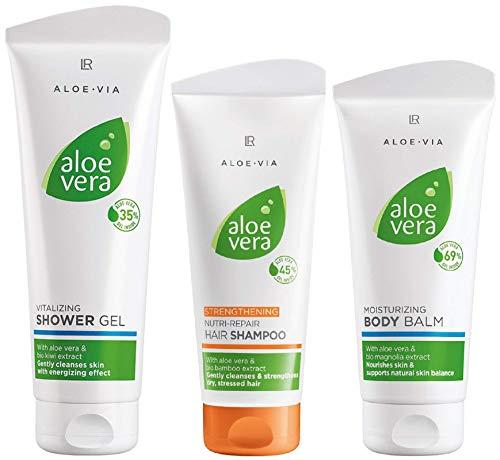 LR ALOE VIA Aloe Vera Haar- und Körper-Set (Körperbalsam, Haarshampoo und Duschgel)