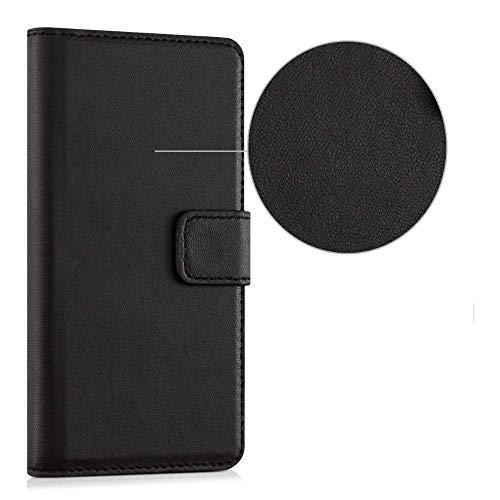 compatible Para HUAWEI NOVA SMART DIG-L21 \ HONOR 6C DIG-L21HN DIG-L01 stuche CUBIERTA STAND BOOK gel tpu PROTECCION MONEDERO Porta tarjeta negro