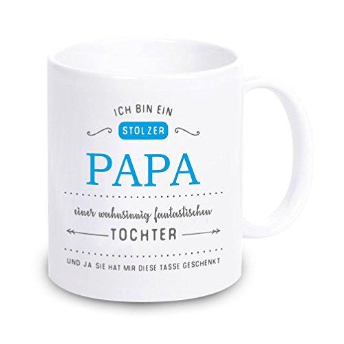4you Design Tasse Ich Bin EIN stolzer Papa eines wahnsinnig fantastischen Sohnes/Tochter… Vatertag, Geburtstag, Geschenkidee