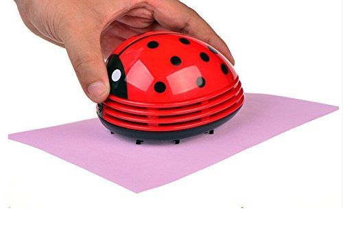 Mini Desktop Vacuum, Angelduck Beetle Ladybug cartoon Dust Sweeper