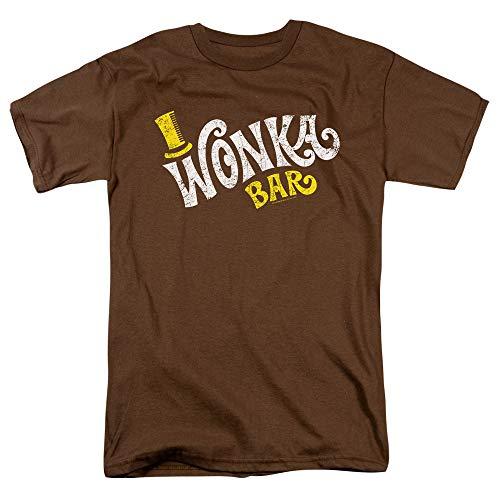 Willy Wonka Vintage Wonka Bar Logo T Shirt & Stickers (Large)