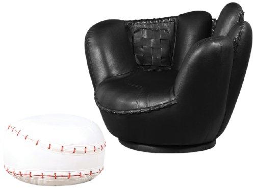 Acme 2-Piece All Star Set Chair and Ottoman, Baseball