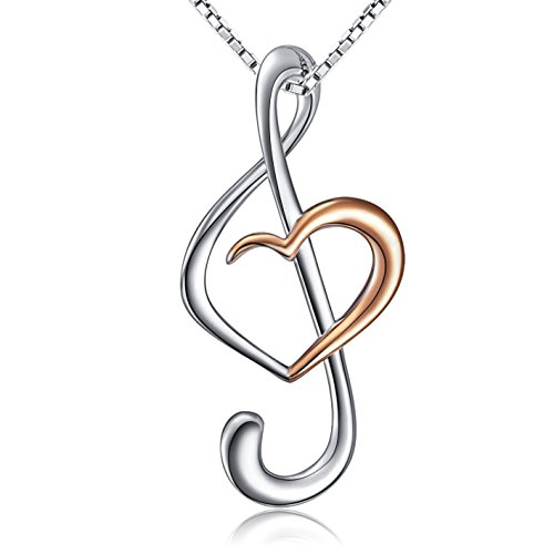 Sterling Silver Necklace Music Note