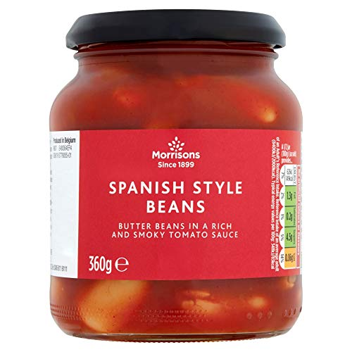 Morrisons Spanish Style Butter Beans in A Rich Smoky Tomato Sauce 370g x 12