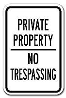 私有地不法侵入 金属板ブリキ看板注意サイン情報サイン金属安全サイン警告サイン表示パネル