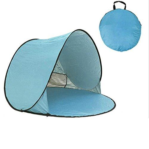 Generic Portable Pop-up Tente Parasol Anti UV 2 à 3 Personnes Tente 59 x 65 x 39 en, Blue+Light Blue