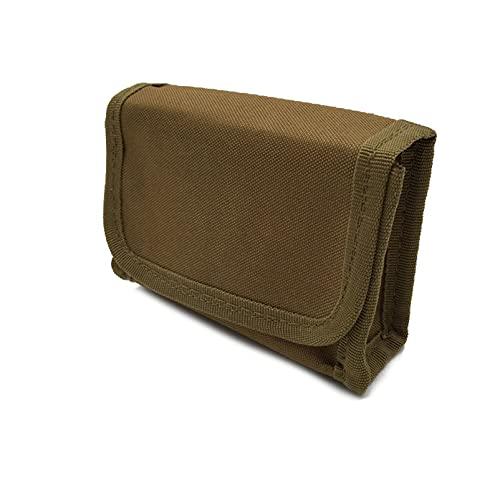 N \ A Tactical Shotgun Shell Holder Molle Shotshell Holder Buttstock Munición Bolsa de Soporte de Bala para Calibre 12/20 10 Rondas para cinturón Cintura Bolsa de Revista
