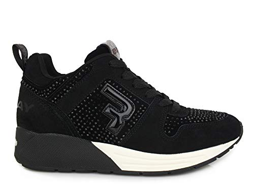 Replay Damen Keeling Sneaker, Schwarz (Black 3), 39 EU