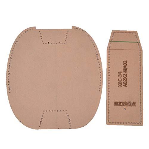 Klares Acryl-Schablonenset, Brieftaschenwerkzeuge Ledermuster-Basteln für das Lederschneiden