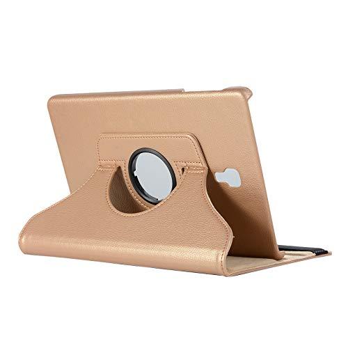 Lobwerk Case fur Samsung Galaxy Tab A SM T590 T595 105 Zoll Schutzhulle Smart Cover Hulle 360 Drehbar Touchpen Gold