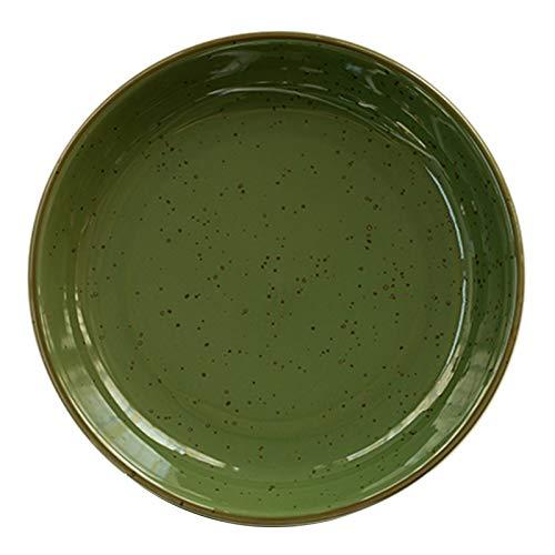 Platos hondos japoneses creativos retro, vajilla para el hogar, platos de sopa de cerámica, platos, platos de cena redondos, platos de pasta, platos de postre