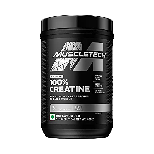 Muscletech Essential Series Platinum 100% Creatine | Boost Muscle growth & Strength | Muscle Recovery | Sports Nutrition | 0.88 lb...