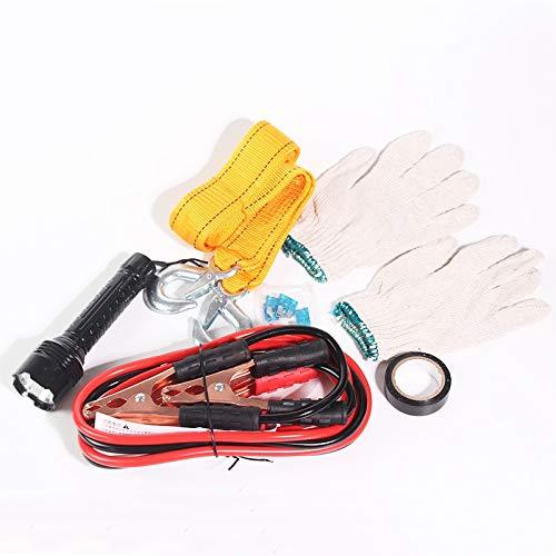 Kit de herramientas de automóvil de la carretera de emergencia Kit de conductores de jumper Cables Guantes Socket 6 PCS