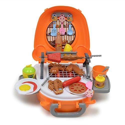 KESOTO 40z Gioco Luci Musicale Carne Pesce Griglia BBQ Plastica Arancione