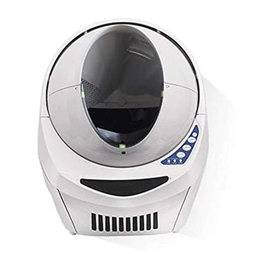 Wen Ying Automatische Katzentoilette Vollverkleidet Intelligente Katzentoilette Elektrische Haustiertoilette Große Haustiertoilette Spritzwasser und Deodorant Katzenstreu