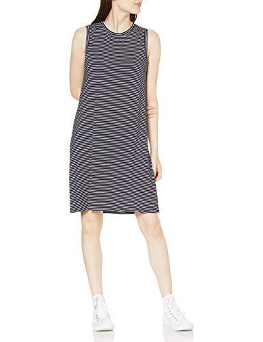 Amazon Brand - Daily Ritual Women's Jersey Muscle Swing Dress, Navy-White Stripe, Small