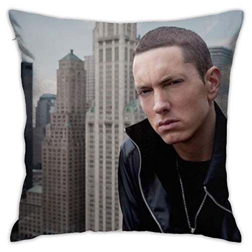 Shadidi Eminem Fundas de almohada de algodón y poliéster, fundas de almohada para sofá, decoración del hogar, 45 x 45 cm, almohada de 18 x 18 pulgadas, poliéster, Eminem 5, talla única