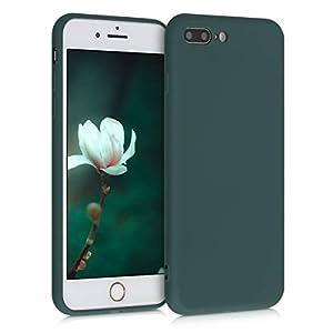 kwmobile Funda Compatible con Apple iPhone 7 Plus / 8 Plus - Carcasa de Silicona TPU para móvil - Cover Trasero en Verde Musgo