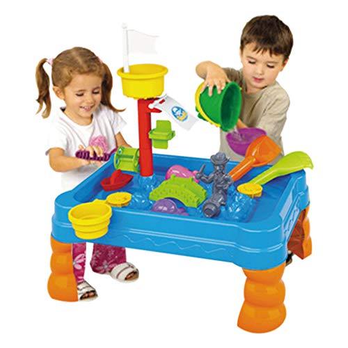 Tabla de Playa para niños, Juguete LeeMon, Tabla de Agua, Mesa, regadera y Pala para niños, Exteriores, jardín, Caja de Arena, Juego de Juguetes