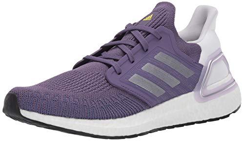 adidas Women's Ultraboost 20 Running Shoe, Purple/Silver Metallic/White, 11.5 M US