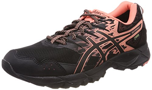 Asics Gel-Sonoma 3 G-TX, Zapatillas de Running para Mujer, Negro (Black Begonia Pinkblack 9006), 44 EU