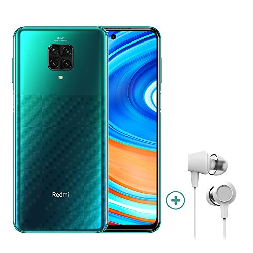Xiaomi Redmi Note 9 Pro - Smartphone 4G (6.67 Zoll - 6GB RAM - 64GB Speicher, 5020mAh, Quad Camera – NFC) - DE Version, Tropical Green