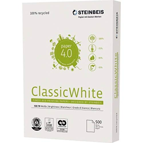 Kopierpapier Steinbeis ClassicWhite, A4, 80 g/qm, Weißegrad 70 CIE, weiß