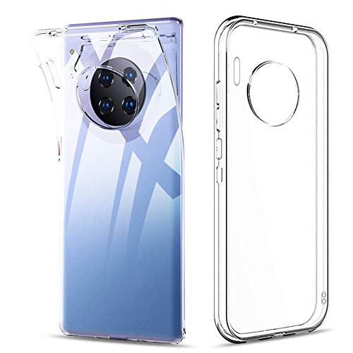 "Amonke Funda para Huawei Mate 30 Pro, Silicona Transparente TPU Protectora Carcasa Antigolpes, Anti Caídas Ultrarock Ultrafina Suave Case Cover Compatible con Huawei Mate 30 Pro 6.53"""