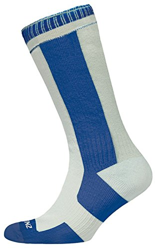 Sealskinz - 1111403004_3004 Chaussettes étanches - Multicolore (Blanc/Marine) - Taille: 39-42 EU (Taille Fabricant: M)