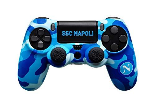 Controller Skin Ssc Napoli Per PlayStation 4 (PS4) con Guscio Protettivo, Due Gommini in Silicone E Due Adesivi - PlayStation 4
