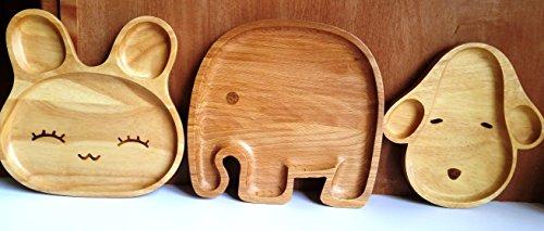 L LIFETIME Animal Tray Decoration Kids Room Nursery Playroom Kitchen Sunroom Hallway Entrance Decore 3D Natural Wood Whimsical (Bunny)