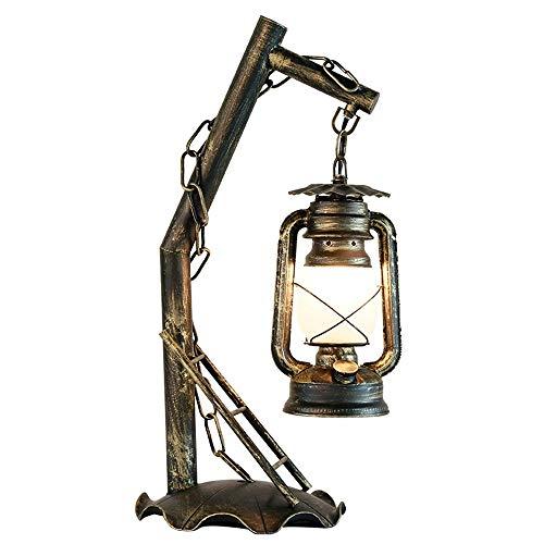 Bursthx Kreative Cafe Kerosene Lamp amerikanischen Einfach Zimmer Alte Laterne Mittelalterliche Retro Vintage-Fußboden-Licht Edison Metall-Desktop-Beleuchtungskörper