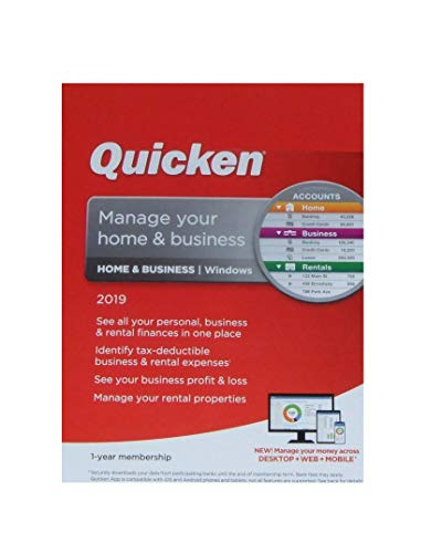 Price comparison product image Quicken Home & Business 2019 1-year membership