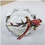 Samantha Cenicero de Cristal de Moda Ceniza Bandeja Bin Creative cenicero Cristal Vidrio cenicero decoración Regalos