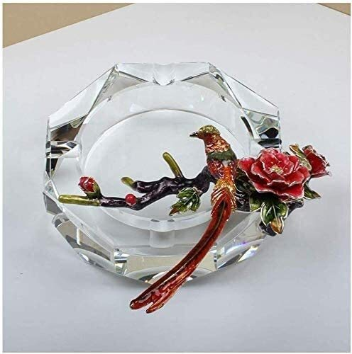 Samanth Praktischer Bastel-Aschenbecher Aschenbecherbehälter Kreative Aschenbecher Kristallglas Aschenbecher Dekoration Geschenke