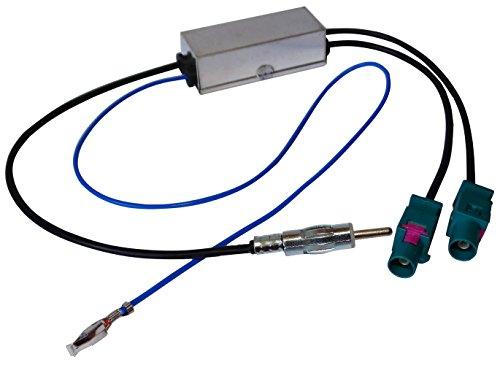AERZETIX - Adattatore Separatore - Sdoppiatore Antenna Autoradio - Doppio FAKRA-DIN - per Auto - C12000