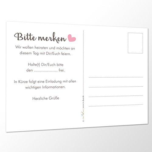 """Save the Date Karten """"Wir heiraten"""" - 3"""