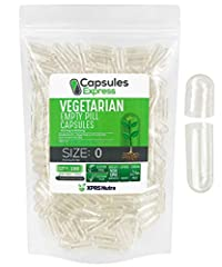 Easy to Fill - Whether you like to manually fill your caps or use a capsule filling machine, our size 0 empty vegetarian capsules are designed with tough anti-break conisnap rounded ends and are transparent to make precise filling easier than ever. O...