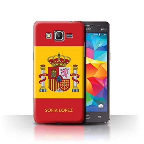 Personalizado Bandera Nacional Nación Personalizar Funda para el Samsung Galaxy Grand Prime/Español/De/España Diseño/Inicial/Nombre/Texto Carcasa/Estuche/Case
