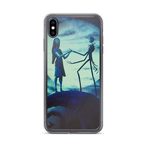 Compatible con iPhone XR, diseño de esqueletos de pesadilla antes de Navidad, película animada, transparente, funda de teléfono