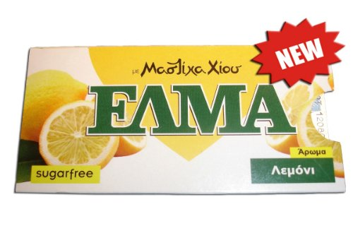 """Greek Mastic Chewing Gum with Lemon """"Elma"""" Sugar Free (3 Packages X 10 Tablets)"""
