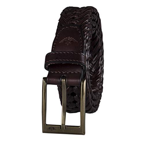 Dockers - Cinturón de cuero trenzado para hombre - Beige -