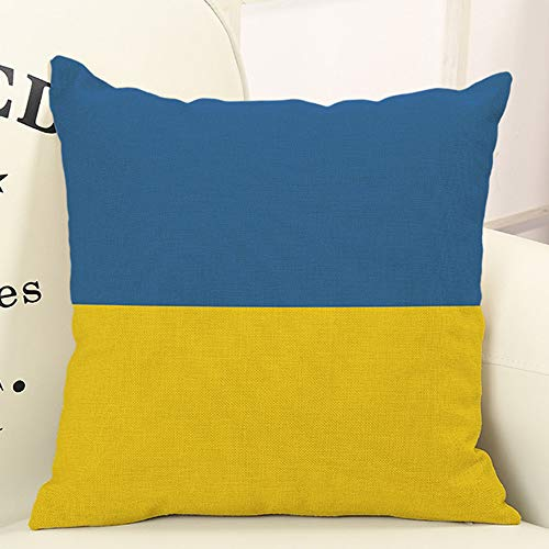 OTTATAT Flag Linen Lovely Throw Pillow Cases Size Designer Teal sham Blue Gold Pillowcases red Yellow Body Oversized Bed 20x20 Pink Cute Turquoise Best Silk Euro Black